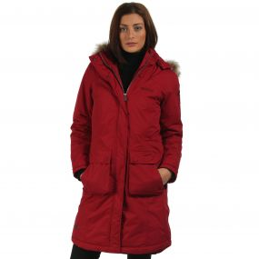 Lumexia Breathable Waterproof Insulated Parka Jacket Rhubarb Red