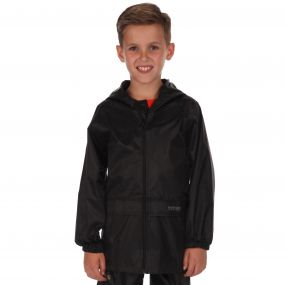 Kids Stormbreak Waterproof Shell Jacket Black