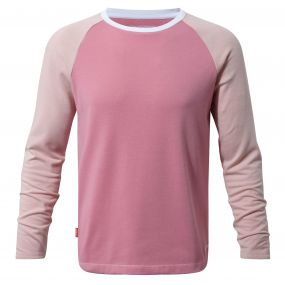 Craghoppers NosiLife Barnaby Long Sleeved Tee English Rose