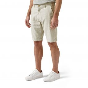Craghoppers Mathis Shorts Olive Green Stripe