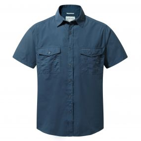 Kiwi Short-Sleeved Shirt Faded Indigo