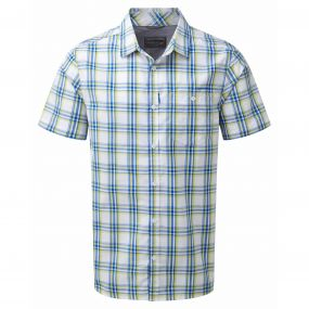 Edgard Short-Sleeved Shirt China Blue Check