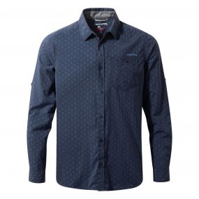 NosiLife Todd Long-Sleeved Shirt Night Blue Combo