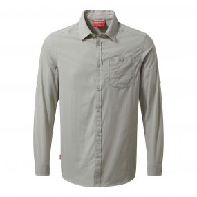 NosiLife Tatton Long-Sleeved Shirt Parchment