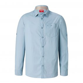 NosiLife Tatton Long-Sleeved Shirt Fogle Blue
