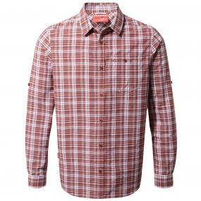 NosiLife Barmera Shirt Red Earth Check