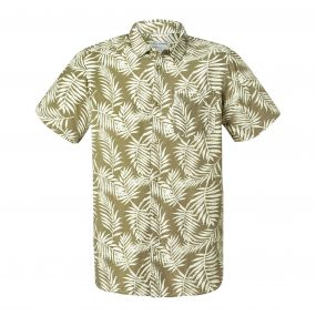 Palmer Short-Sleeved Shirt Olive Green