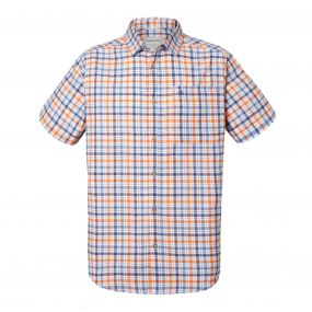 Holbrook Short-Sleeved Check Shirt Ombre Blue