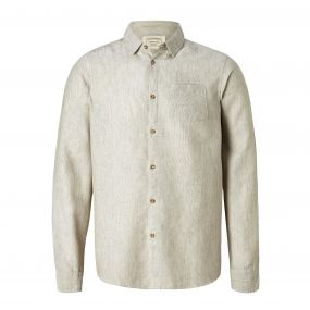 Porter Long-Sleeved Shirt Olive Green Stripe