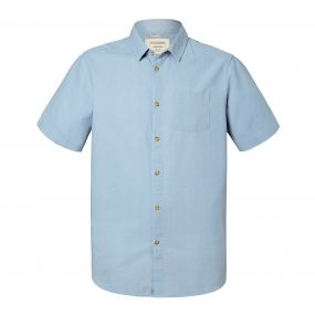 Evans Short-Sleeved Shirt Fogle Blue