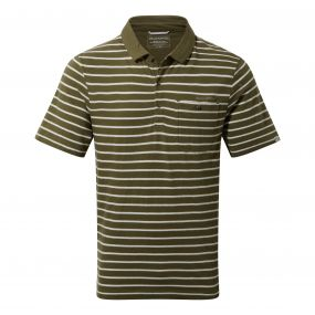 Fraser Short-Sleeved Polo Dark Moss Combo