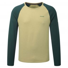 Maple Long-Sleeved T-Shirt Light Olive Green