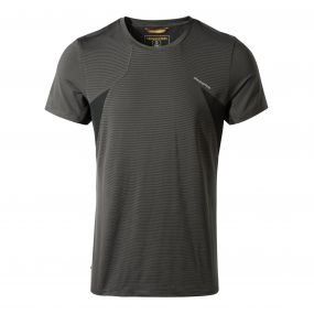 Craghoppers Fusion Short Sleeved Tee Black Pepper Combo