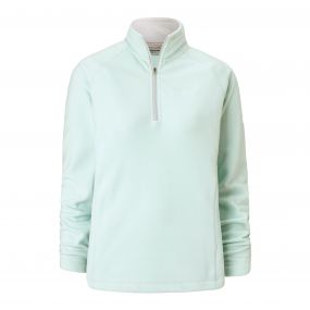 Seline Half-Zip Fleece Soft Mint