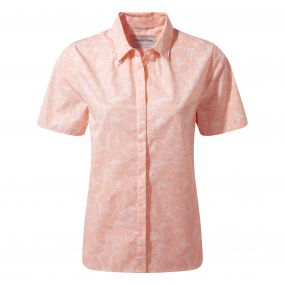 Craghoppers Silla Short Sleeved Shirt Blossom Pink