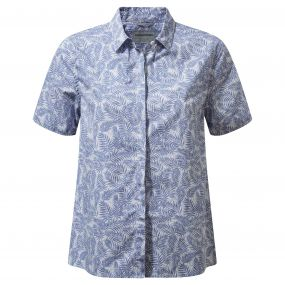 Craghoppers Silla Short Sleeved Shirt China Blue
