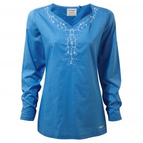 Rayna Long-Sleeved Top Bluebell