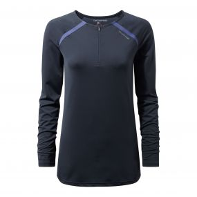 Craghoppers NosiLife Coast Long Sleeved Top Soft Navy