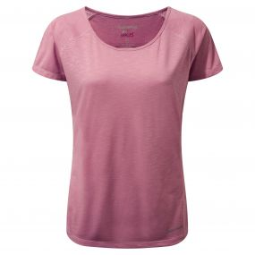 Craghoppers NosiLife Harbour Short Sleeved Top English Rose
