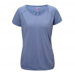 Craghoppers NosiLife Harbour Short Sleeved Top China blue