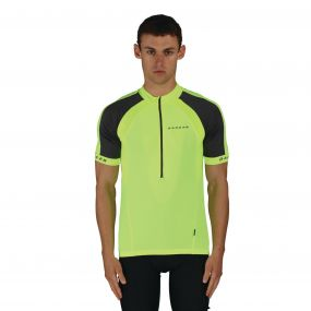 Dare 2B Men's Outstart Jersey Cycle Top Fluro Yellow