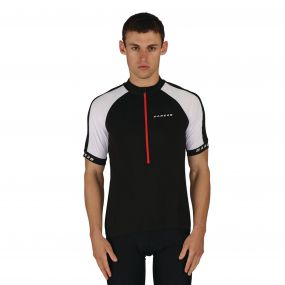 Dare 2B Men's Outstart Jersey Cycle Top Black
