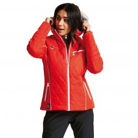 Women's Ornate Luxe Ski Jacket HighRisk Red