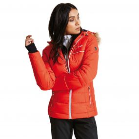 Women's Cultivated Luxe Ski Jacket HighRisk Red