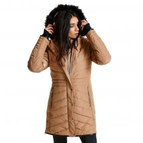 Women's Lately II Luxe Ski Jacket Mid Brown