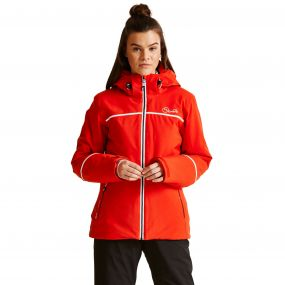 Women's Effectuate Ski Jacket HighRisk Red