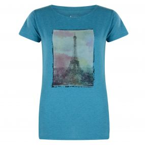 Dare 2B Tower Above T-Shirt Enamel Blue Marl