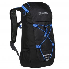 Kids Blackfell Nano Junior Rucksack Black French Blue
