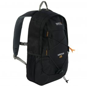Survivor III 25 Litre Backpack Rucksack Black
