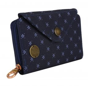 Elsie Travel Purse Navy Fleck