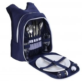 Freska 2 Person Picnic Backpack Navy