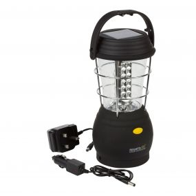 Helia 36 LED Solar Lantern Camping Lamp UK Black