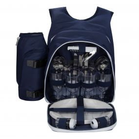 Freska 4 Person Picnic Backpack Navy