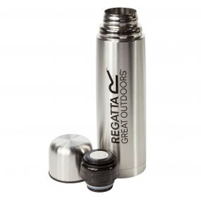 1 Litre Vacuum Camping Flask Silver