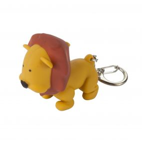 Keyring Animal Torch Lion Tan
