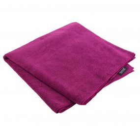 Compact Large Travel Towel Dark Cerise