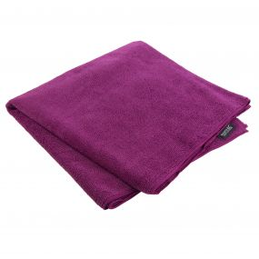 Compact Travel Towel - Giant Dark Cerise