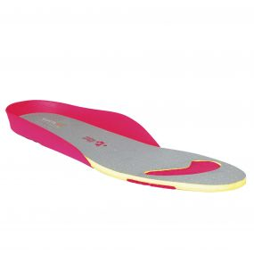 Ladies Comfort Footbed Red Blush