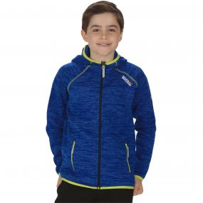 Kids Dissolver Mid Weight Knit Effect Hooded Fleece Surfspray Blue