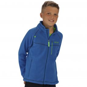 Kids Marlin V Lightweight Full Zip Fleece Oxford Blue