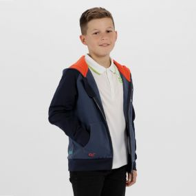 Kids Tetra Hooded Fleece Dark Denim Navy