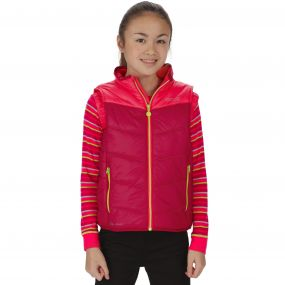 Kids Icebound II Mid Weight Insulated Gilet Persian Red Duchess