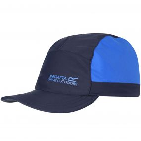Kids Protect Sunshade Neck Protector Cap Navy Skydiver Blue