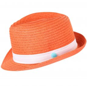 Takiyah Hat Neon Peach White