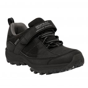 Kids Boys Trailspace Low Trail Shoes Black Pigeon