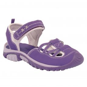 Kids Girls Boardwalk Sandals Purple Iris